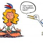 Women yoga vector