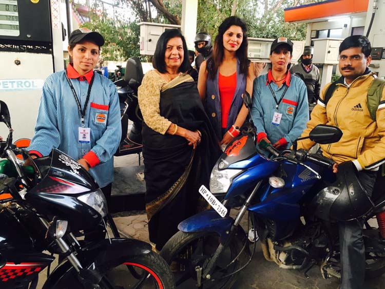 1st female petrol pump owner