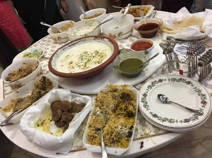 The delicious feast at the Iftar