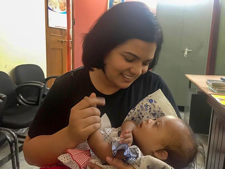Kavita with Veda